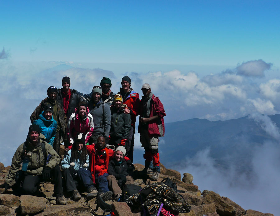 Roadmonkey's expedition team on Mt. Kilimanjaro, what a wonder!